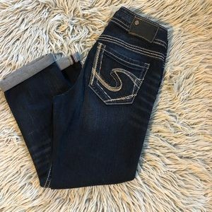 Silver jeans mid Capri size 28